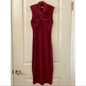 Deep Red Missguided Slinky Dress